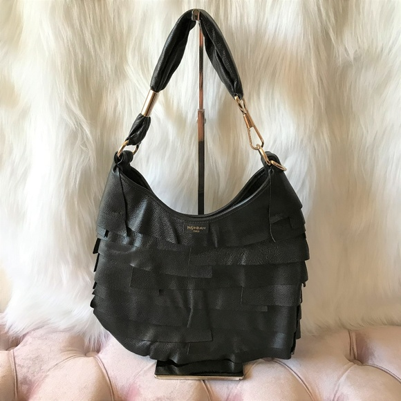 f77b008d241 SAINT LAURENT St. Tropez Black Leather Hobo Bag. M_5a970d532ab8c58376b11be9